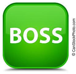 Boss special green square button