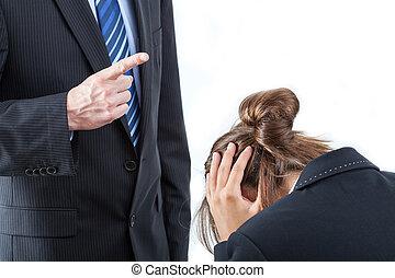 Boss threatening his employee