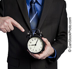 boss upset because you are late - business man pointing at...