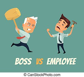 Boss vs worker characters