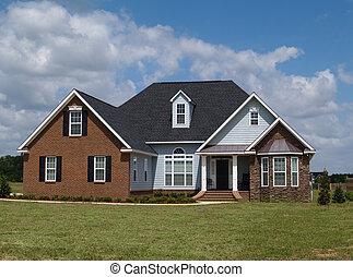 bostads, berättelse, två, hem