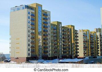 bostads, kvarter, perkunkiemis
