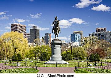 boston, öffentlicher garten