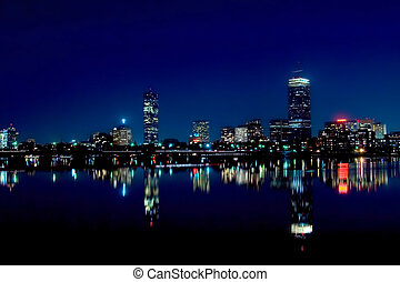 boston, 2, skyline
