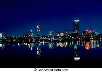 boston, 2, skyline