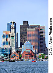Boston architecture at waterfront