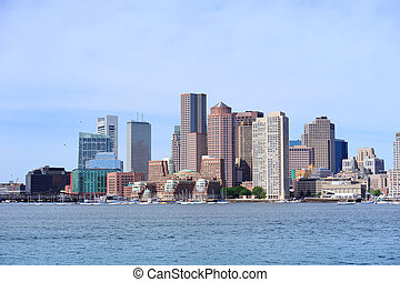 Boston architecture at waterfront