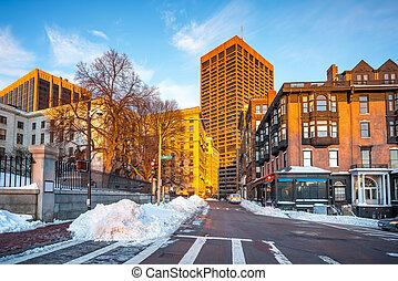 Boston at winter