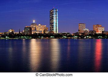 Boston Charles River at dusk