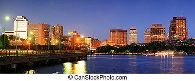 Boston Charles river at night