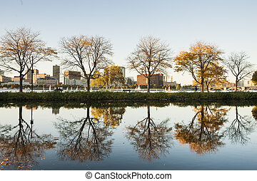 Boston, Charles River esplanade.