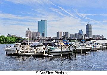Boston Charles River skyline