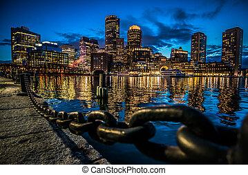 Boston City at Night