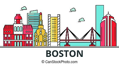 Boston city skyline.