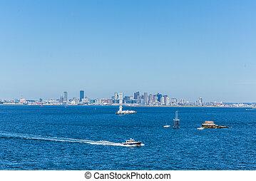 Boston City Skyline from Distance