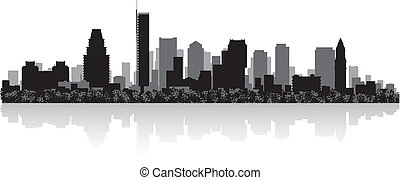 Boston city skyline silhouette - Boston USA city skyline...