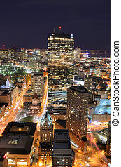 Boston Cityscape - Aerial view of downtown Boston,...