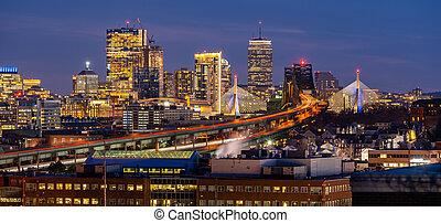 Boston Cityscape Panorama