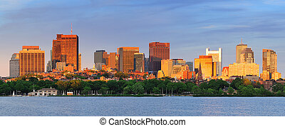 boston, cityscape, panorama