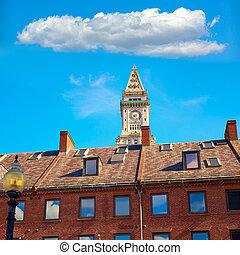 Boston Clock tower Custom House Massachusetts