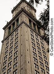 Boston Clock Tower From Below