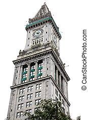 Boston Clocktower Isolated on White