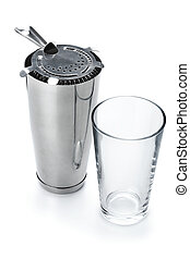 Boston cocktail shaker with strainer