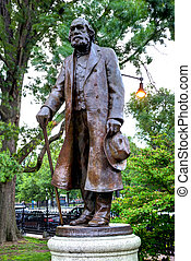 Boston Common Edward Everett Hale monument in Massachusetts...
