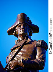 Boston Common George Washington monument at Massachusetts ...