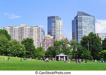 Boston Common public garden