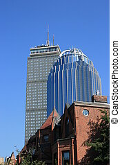 Boston - Downtown office towes as seen from the South End.