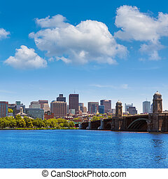 Boston from Longfellow Bridge in Massachusetts