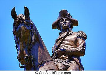 boston, george washington, común, monumento