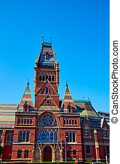Harvard University historic building in Cambridge