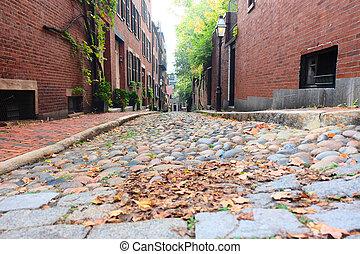 boston, historique, rue, Gland