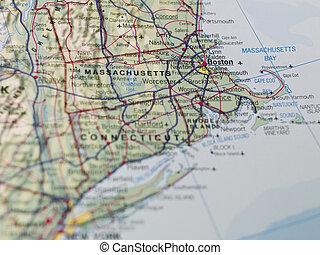 boston, landkarte