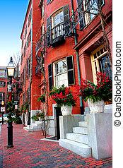 boston, leuchtturm hügel