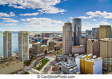 Boston, Massachusetts aerial view and skyline