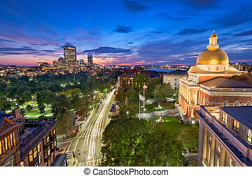 boston, massachusetts, cityscape