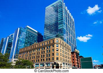 Boston Massachusetts downtown buidings
