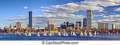 Boston, Massachusetts skyline panorama