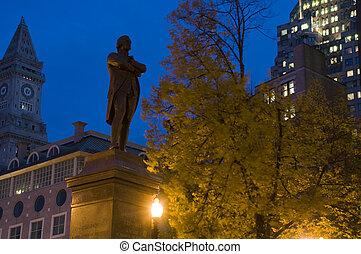 boston, noche
