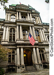 Boston Old City Hall building in Massachusetts USA