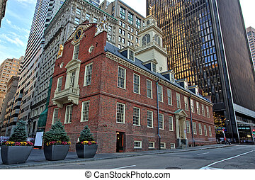 Boston Old State House Building in Massachusetts