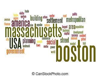 boston, palavra, nuvem