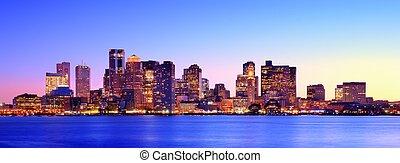 Boston Panorama - Panorama of downtown Boston, Massachusetts...
