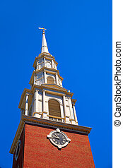 Boston Park Street Church in Massachusetts