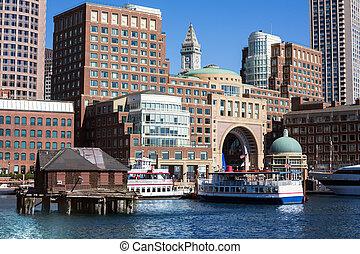 boston, quai, massachusetts, rowes