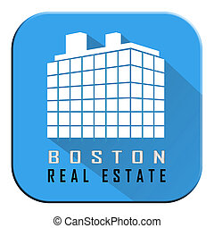Boston Real Estate Apartment Represents Property In Massachusetts 3d Illustration