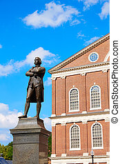 Boston Samuel Adams monument Faneuil Hall